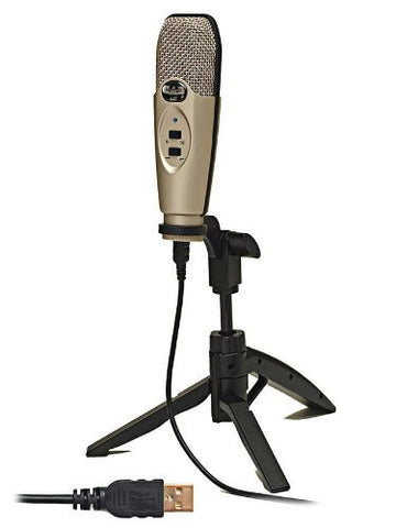 CAD U37 USB Microphone Bundle with Mic Boom Stand and Pop Filter Popper Stopper