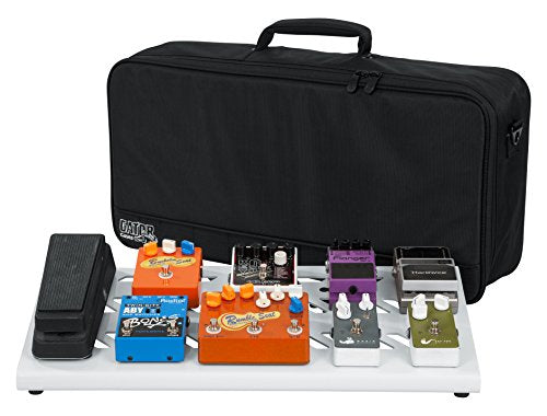 Gator Cases GPB-BAK-WH Aluminum Pedal Board with Carry Bag, Large, White