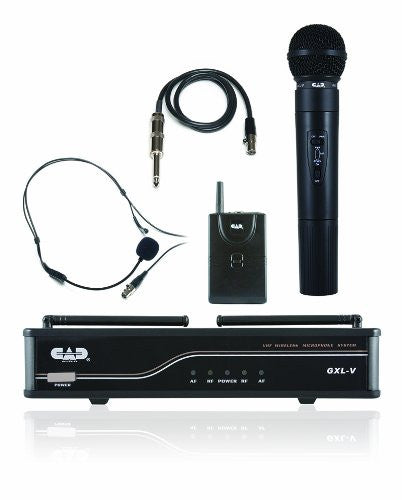 CAD GXLVHB VHF Wireless Combo System- Handheld and Bodypack Microphone System, H frequency (Refurb)