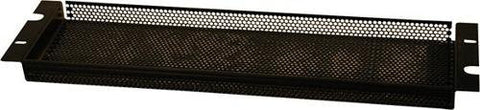 "Gator GRW-PNLSEC2 Gator Rackworks Security Cover; Non-PVC Rubber Edging; 5/32"" Holes; 1"" Space Between Panel & Gear; 2U"