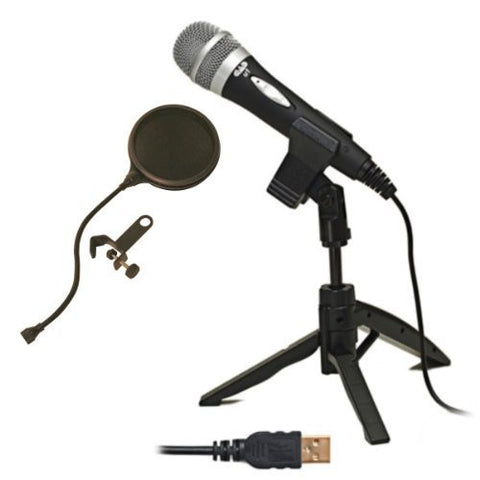 CAD U1 USB Microphone Bundle with Pop Filter Popper Stopper
