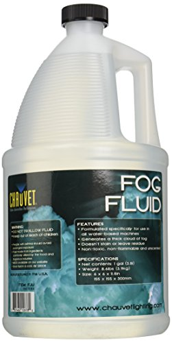 CHAUVET DJ FJ-U Fog Fluid, 1 Gallon, Clear, 1-Gallon
