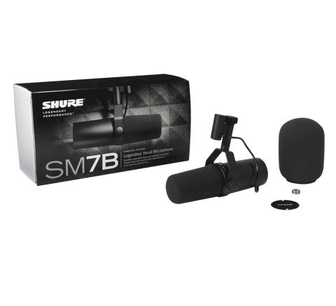 Shure SM7B Vocal for broadcast, podcast or recording Dynamic Cardioid Microphone