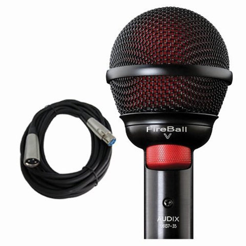 Audix Fireball V Harmonica Beatbox Microphone Fire Ball V w Free 20ft Cable
