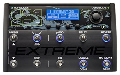 TC Helicon Voicelive 3 EXTREME vocal and guitar effects floor pedal with multitrack looping
