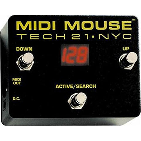 Tech 21 MIDI Mouse Battery Operable MIDI Footcontroller