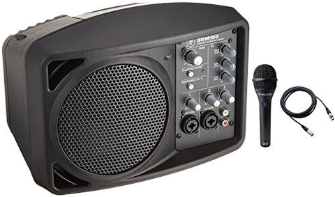 Mackie SRM150 5.25 Compact Active PA system bundled with mic and cable