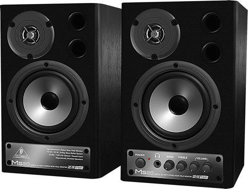 Behringer DIGITAL MONITOR SPEAKERS MS20 24-Bit/192 kHz Digital 20-Watt Stereo Near Field Monitors