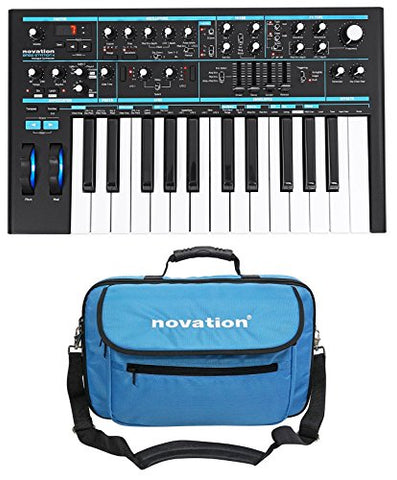Novation BASS STATION II 25-Key MIDI USB Analog Keyboard Synthesizer + Carry Bag