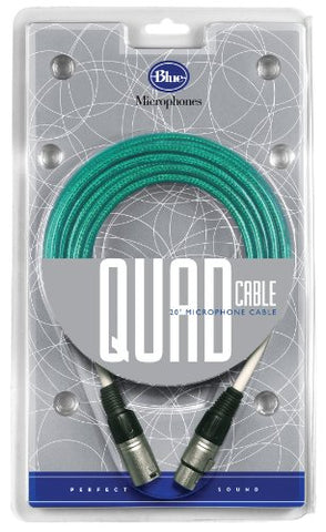 Blue Quad 20 Foot Microphone Cable, Recommended for use with Blue microphones' Kiwi, Cactus, Bottle Rocket Stage 1 and 2, and Bottle mics