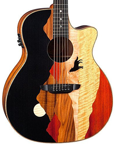 Luna Vista Wolf A/E, Tropical Wood, Cocobolo Back