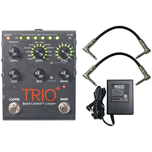 Digitech Trio+ Band Creator + Looper w/ Patch Cables and Power Supply