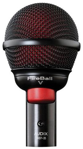 Audix Fireball-V Dynamic Harmonica Instrument Microphone with volume control (Refurb)