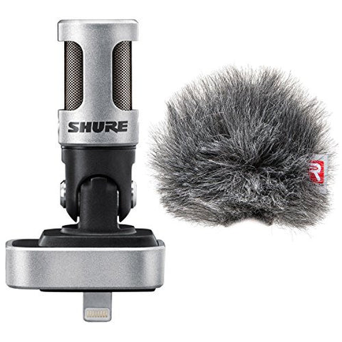 Shure MV88 iOS Digital Stereo Condenser Microphone w/ Rycote Windjammer Windscreen - Bundle
