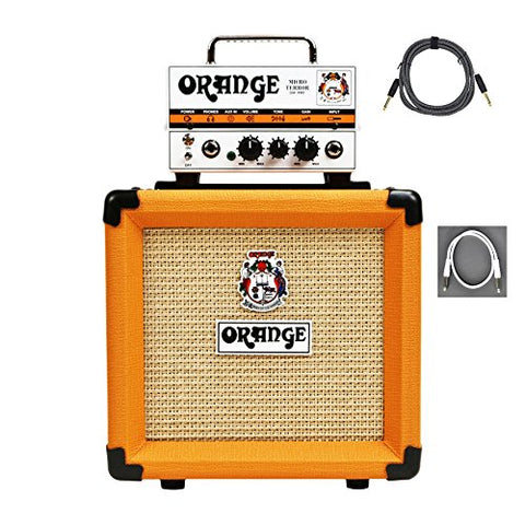 Orange MT20 PPC108 Bundle Micro Terror Tube Hybrid Guitar Amp Head & Cabinet
