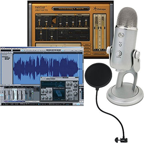 Blue Yeti Studio All-In-One Pro Studio Vocal System with Recording Software and Gooseneck PoP filter