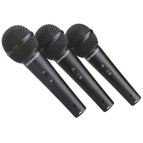 Behringer ULTRAVOICE XM1800S 3 Dynamic Cardioid Vocal and Instrument Microphones (Set of 3)