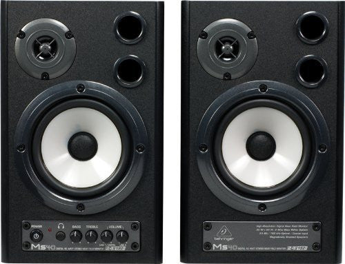 Behringer DIGITAL MONITOR SPEAKERS MS40 24-Bit/192 kHz Digital 40-Watt Stereo Near Field Monitors