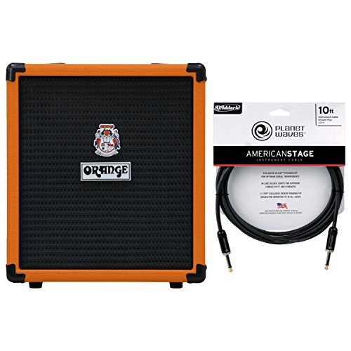 Orange CRUSH-BASS-25 Bass Combo Amp Orange w/ Cable
