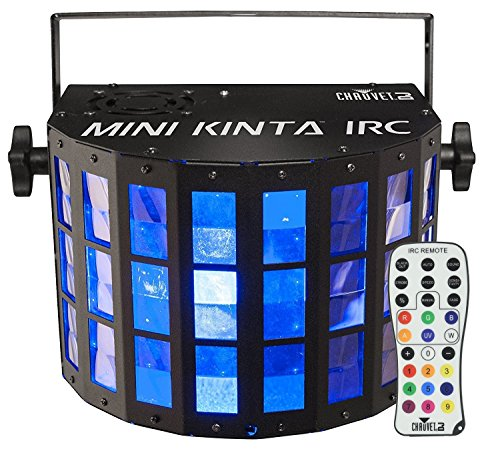 CHAUVET DJ Mini Kinta IRC Compact LED Derby DJ Effect Light and IRC-6 Infared Remote Control for DJ Effect/Strobe Lighting Bundle