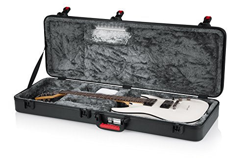Gator Cases TSA Series Molded Case for Strat/Tele Style Electric Guitar with Internal LED Lighting (GTSA-GTRELEC-LED)