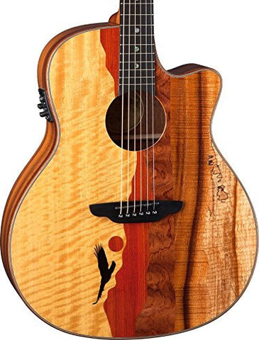 Luna Vista Eagle A/E, Tropical Wood, Koa Back