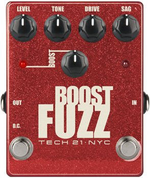 Tech 21 Boost Fuzz Metallic - Analog Fuzz with Clean Boost