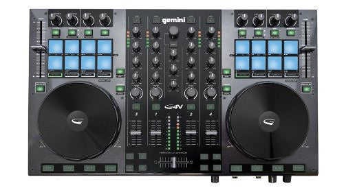 Gemini DJ G4V DJ Controller 4 Channel Midi Controller with Soundcard (Refurb)