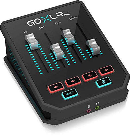 TC Helicon GoXLR Mini - Mixer & USB Audio Interface for Streamers, Gamers & Podcasters