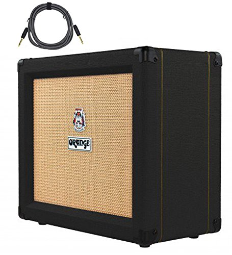 "Orange Crush 35RT Black 1x10"" 35-Watt Combo w/ Reverb & Tuner Free Cable Bundle"
