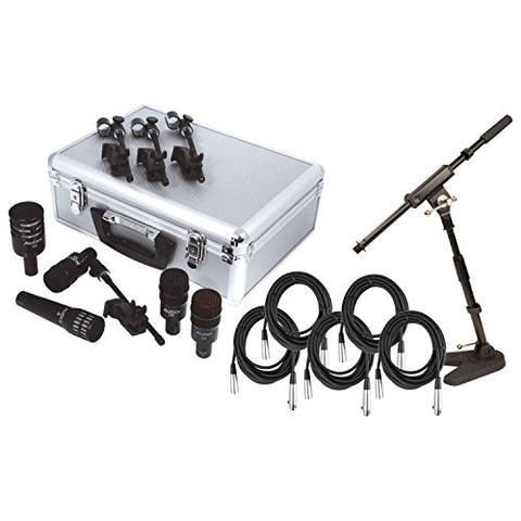 Audix DP5a 5-Piece Drum Microphone Pack w/ 5 Free Mic Cables and 1 Mini Boom Stand!