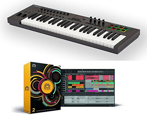 Nektar Impact LX49+ 49 note USB keyboard controller bundle with Bitwig Studio software DAW