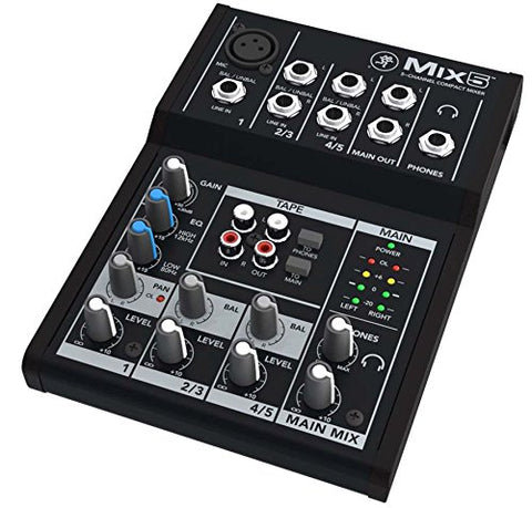 Mackie Mix Series Mix5 5-Channel Mixer