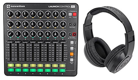 Novation Launch Control XL MIDI USB Ableton Live Controller + Samson Headphones