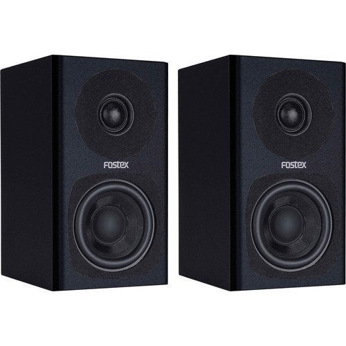 Fostex PMO.3B 3-Inch 2-Way Powered Digital Speaker System, Black, Set of 2 (Refurb)