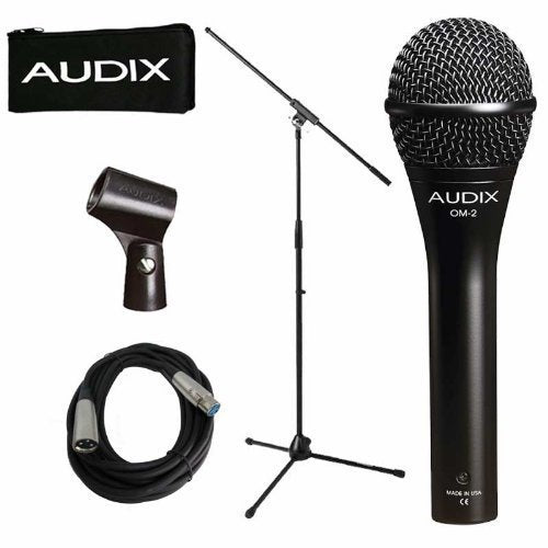 Audix OM-2 Dynamic Vocal Microphone OM2 Instrument With Free Stand and Cable