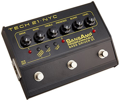 Tech 21 SansAmp Programmable Bass Driver DI - w/ 3 channels
