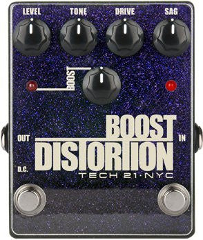 Tech 21 Boost Distortion Metallic - Analog Distortion with Clean Boost