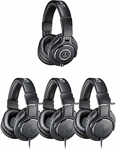 Audio Technica ATH-PACK4 Professional Headphone Studio Pack includes 1 ATH-M40X and 3 ATH-M20X