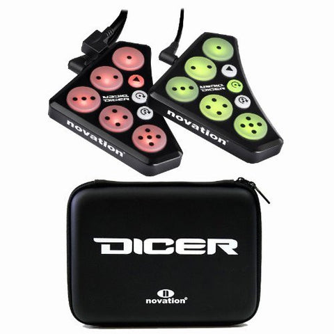 Novation Dicer Cue Point, Looping Control and Dicer Case Bag Bundle