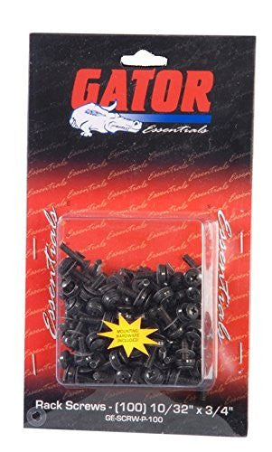 "Gator GRW-SCRW025 Gator Rackworks 10/32"" X 3/4"" Rack Screws - 25 Qty Pack"