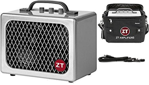 ZT Amplifiers Lunchbox Junior guitar stage battery/ac amp with pedal cable kit and carry bag bundle