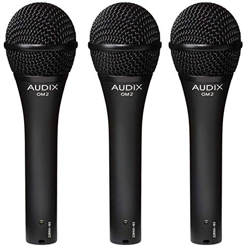 Audix OM2 Trio Dynamic Vocal Microphones 3 mic pack