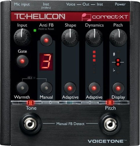 TC Helicon 996007005 VoiceTone Correct XT Vocal Effects Processor (Refurb)