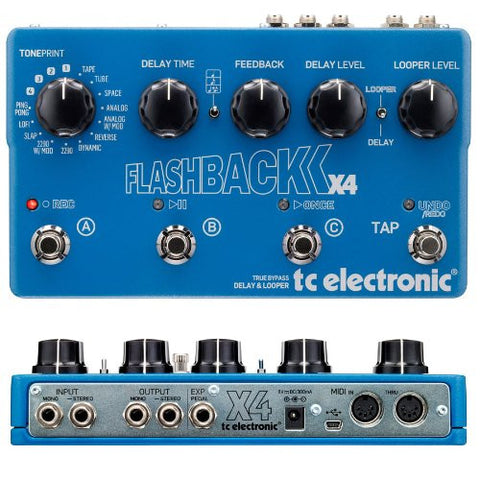 TC Electronic Flashback X4 Delay and Looper Pedal (Refurb)