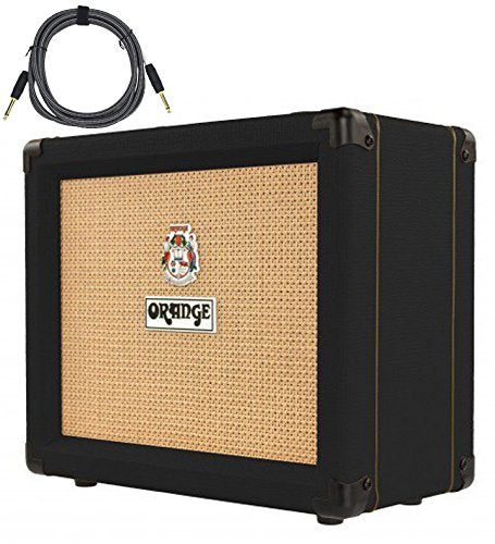 "Orange Crush 20RT Black 1x8"" 20w Combo Amp w/ Reverb & Tuner Free Cable Bundle"