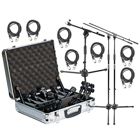 Audix DP7 Complete Drum Microphone Bundle with Stands and XLR Cables