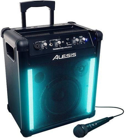 Alesis TransActive Wireless 2 Portable Rechargeable Bluetooth Speaker with Lights