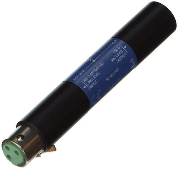 Shure A15LA Line Adapter-Converts Balanced Line Level Signals to Microphone Level (50dB Attenuation)