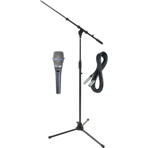 Shure Beta 87C HH Condenser Mic with Cable and Stand Bundle